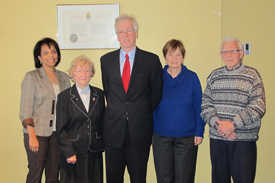 D&P members with Stéphane Dion (center)