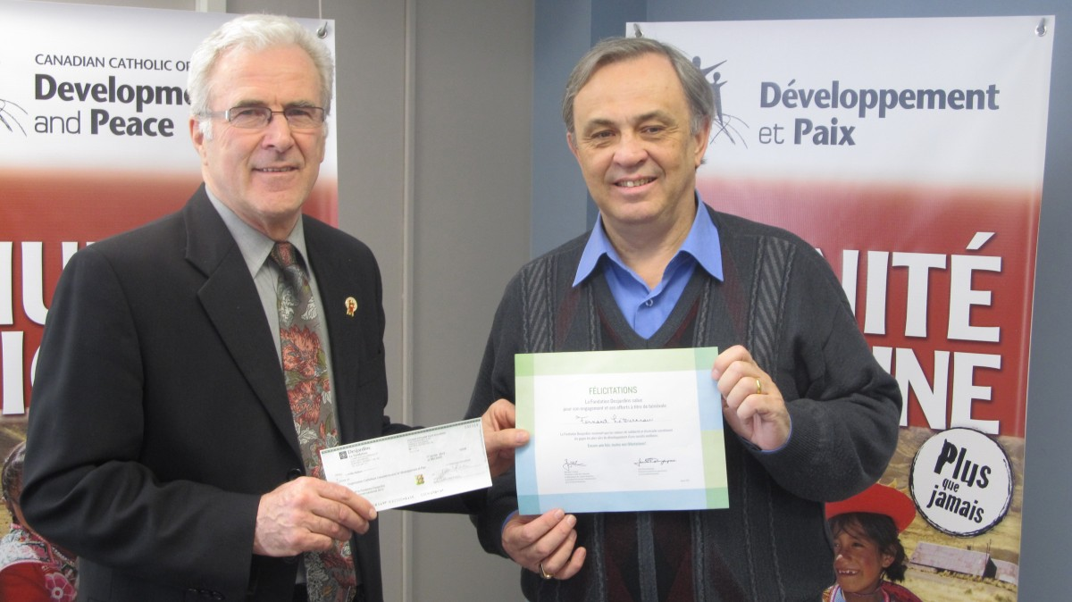 Fernand Letourneau, left, with Michael Casey, Executive Director of D&P